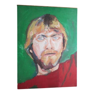Kurt Cobain-Like Portrait Painting