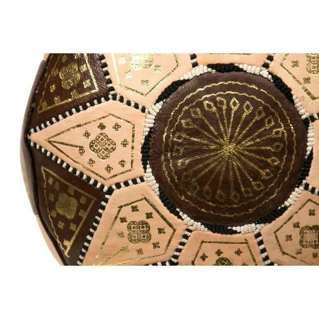 Image of Moroccan Brown Pouf Ottoman