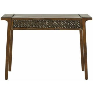 Asian-Inspired Birchwood Console Table