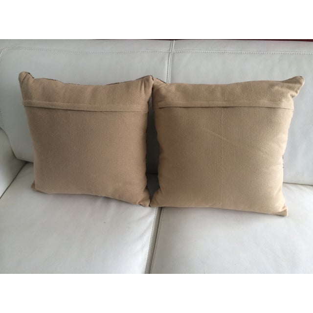 Pink & Brown Aztec Pillows - A Pair - Image 3 of 3