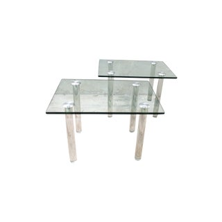 Mid-Century Lucite Tables - A Pair
