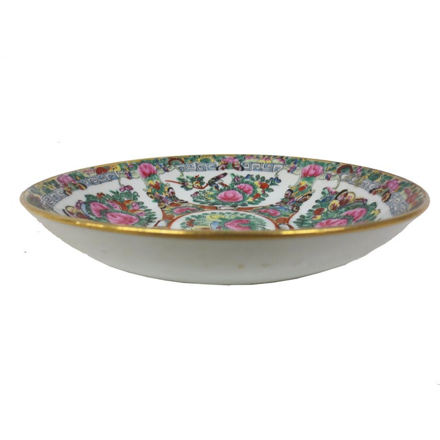 Image of Handpainted Chinese Rose Medallion Bowl