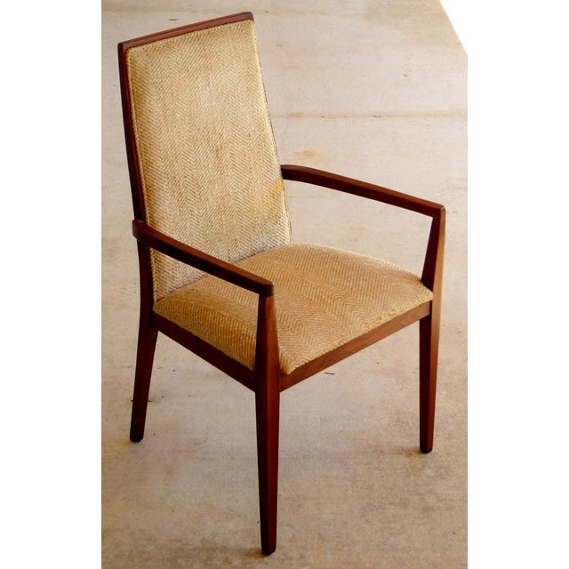 Dillingham Mid-Century Walnut Dining Chairs - Set of 6 - Image 3 of 9
