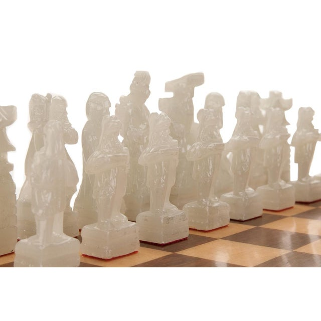 Chinese Green & White Jade Soap Stone Chess Set - Image 6 of 8