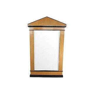 Transitional 1960's Satinwood Mirror