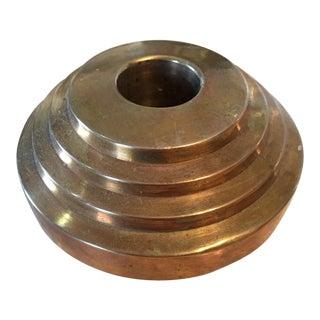 Modernist Brass Candle Holder