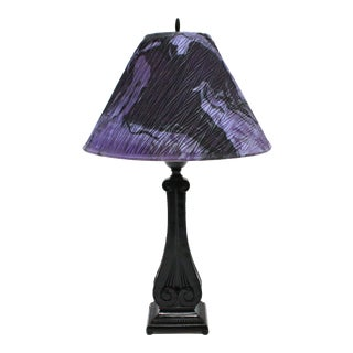 Vintage Repurposed Marble Shade Lamp