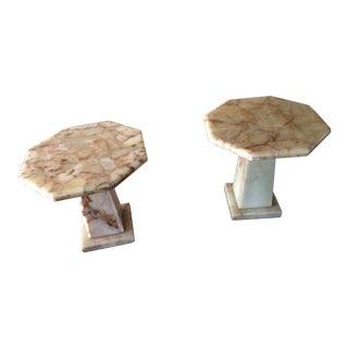 Onyx Arturo Pani Octagonal Onyx Coffee Tables - a Pair /Stone /Marble