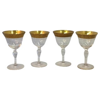 Vintage Tiffin Liqueur Glasses - Set of 4