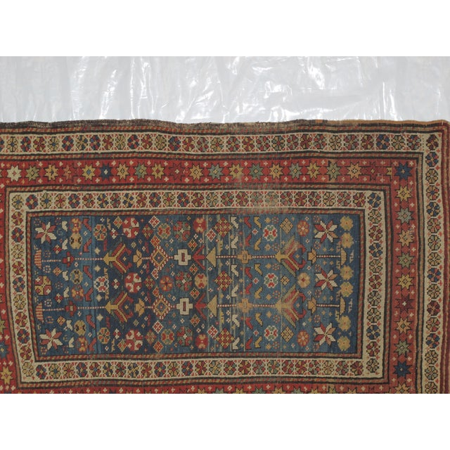 "Antique Russian Shirvan Rug - 3' X 4'6"" - Image 4 of 6"
