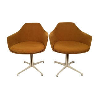 Saarinen Style Shell Chairs by Burke - A Pair