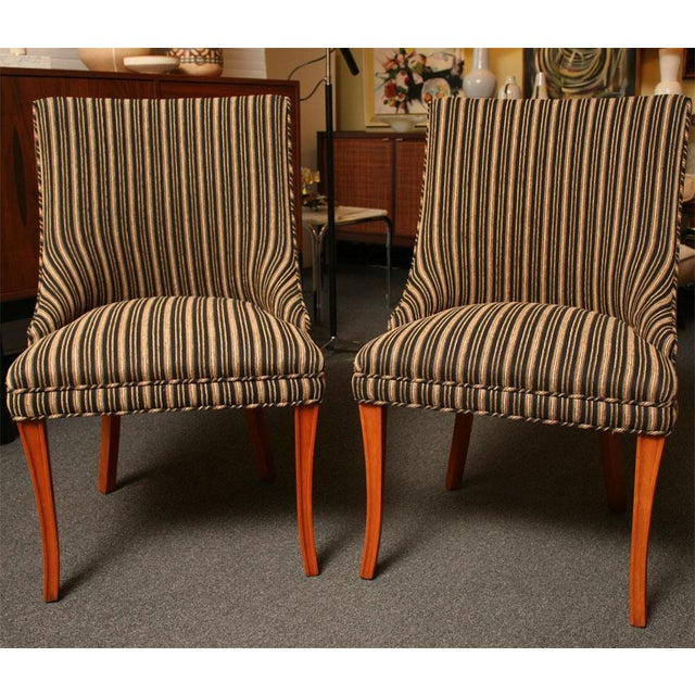 Sleek Tailored 40's Slipper Side Chairs - Image 7 of 10