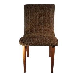 Mid Century Brown Wool Upholstered Chair