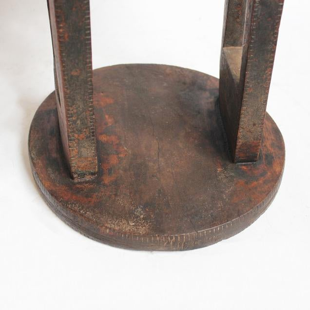 Ethiopian Wood Carved Table