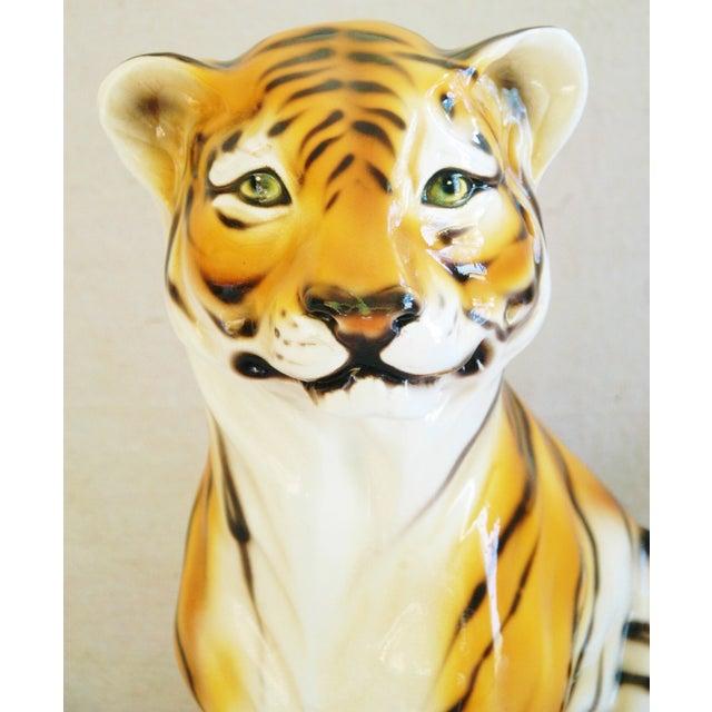 Large Mid-Century Porcelain Italian Tiger - Image 10 of 11