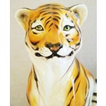 Image of Large Mid-Century Porcelain Italian Tiger