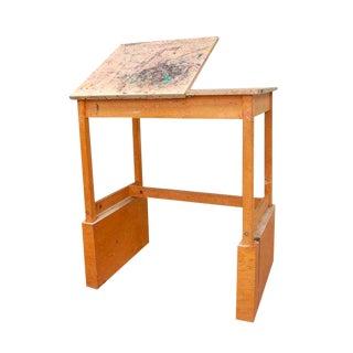 Vintage Adjustable Easel Art Table