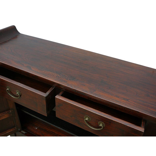 Image of Asian Chinese Brown Cabinet Side Altar Table