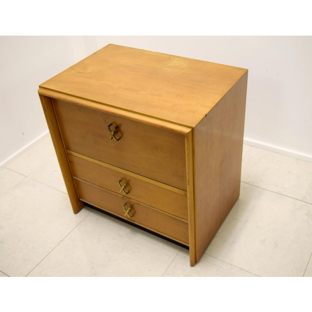 Paul frankl for johnson furniture bedside table chairish for 12 wide bedside table