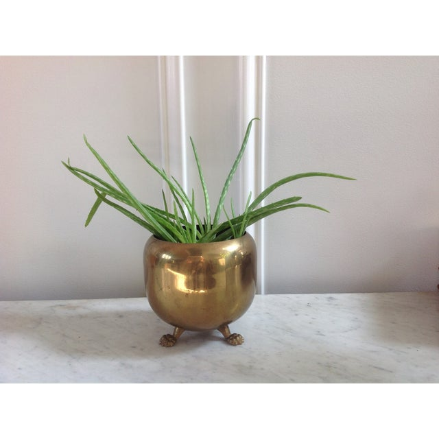 Brass Footed Planter Cachepot - Image 3 of 4