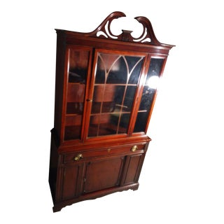Bernhardt Mahogany Glass Front China Cabinet