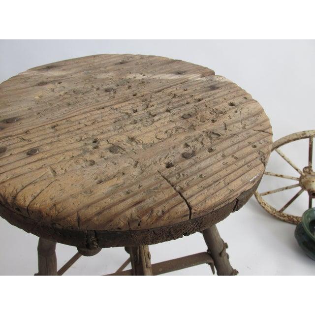 Image of Rustic Folk Swivel Stool