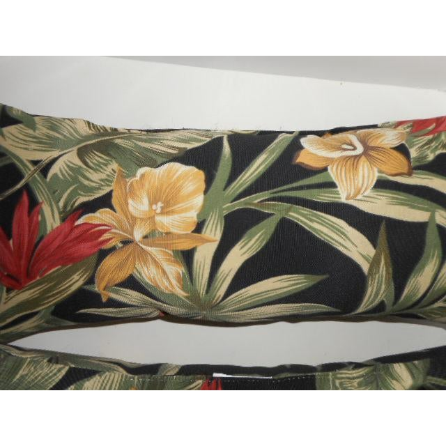 Tropical Palm Leaf & Orchid Pillows - a Pair - Image 4 of 8