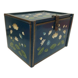 Antique Hand Painted Chinoiserie Jewelry Box