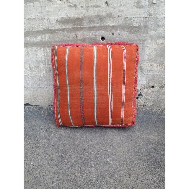 Pink & Orange Moroccan Floor Pillow - Image 3 of 3