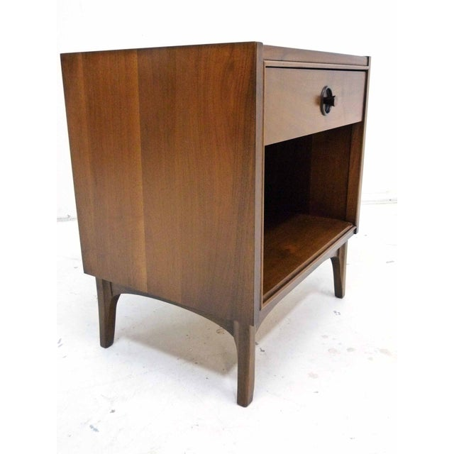 Nightstand by kroehler with rosewood accents chairish for 12 wide bedside table