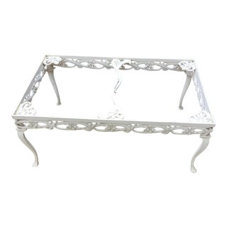 Brown Jordan White Day Lily Coffee Table