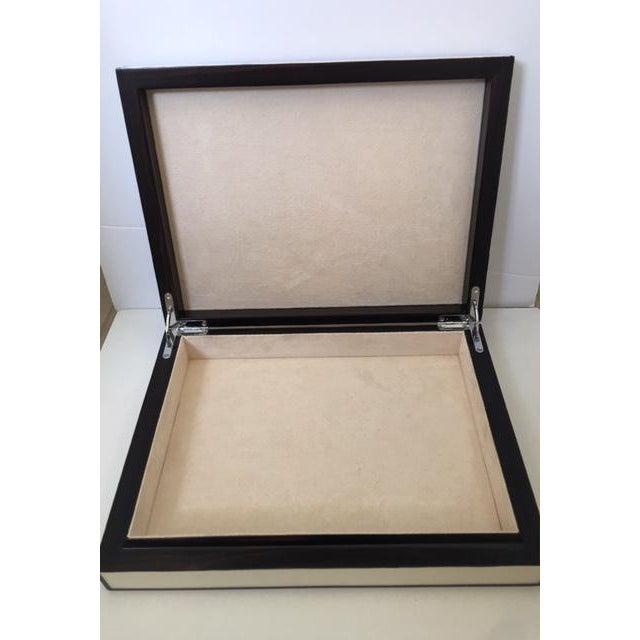 Contemporary Cream Parchment & Ebony Trim Box - Image 5 of 5