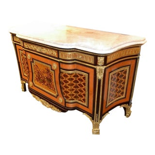 French Louis XVI Transitional Inlaid Commode