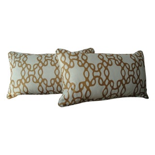 Chain Accent Pillows - A Pair