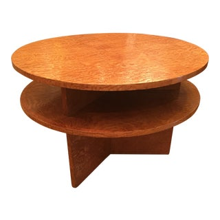 1960's Modernist Exotic Wood Coffee Table
