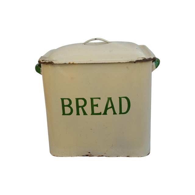 Image of Art Deco Enamel Bread Bin