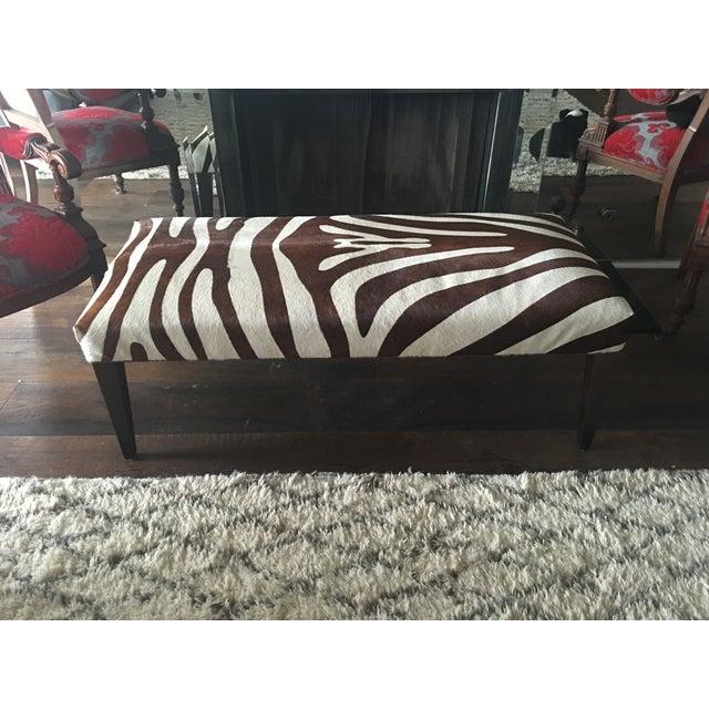 Brown Zebra Bench - Image 2 of 4