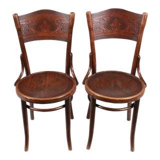 Art Nouveau Thonet Chairs, Pair