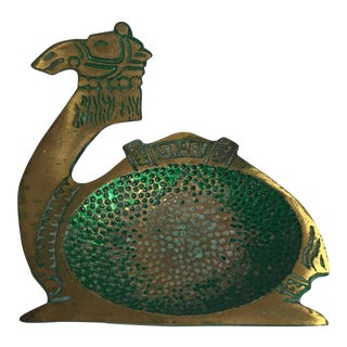 Israeli Brass Camel Dish