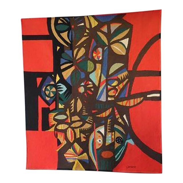 Image of Large Modern Tapestry by Genaro de Carvalho
