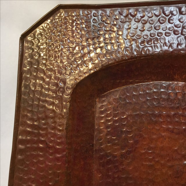 Vintage Mission Hammered Copper Tray - Image 5 of 5
