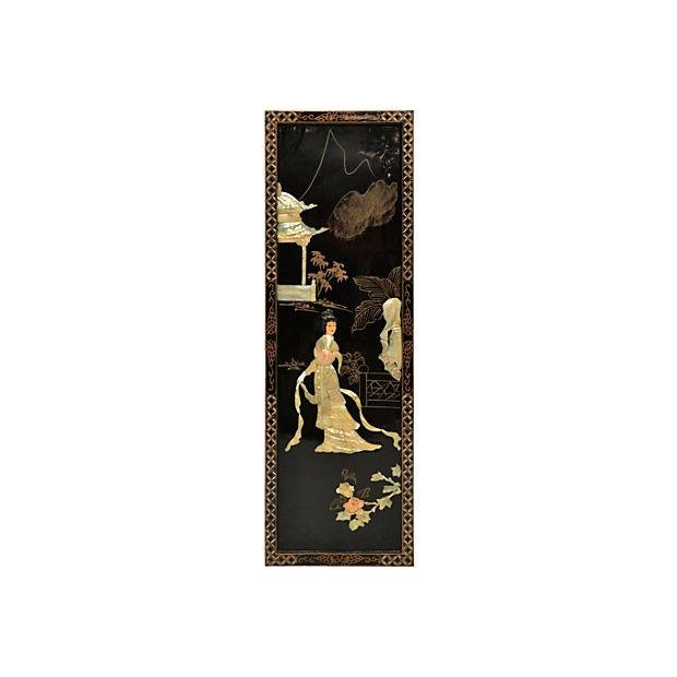 Vintage Japanese Lacquer Screen - Image 4 of 4