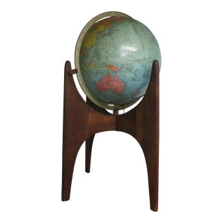 Vintage Adrian Pearsall Stand With Replogle Globe