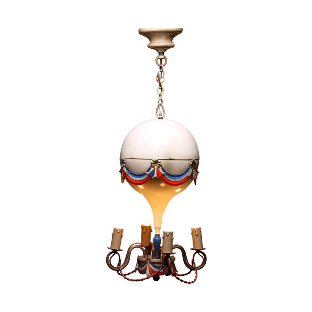 1950's French Hot-Air Balloon Chandelier - Image 1 of 5