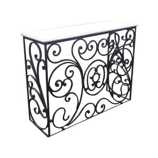 Art Nouveau Vintage Wrought Iron Bar Console