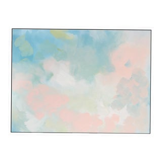"""Abstract Peach Pair No. 2"" Framed Giclée Print"