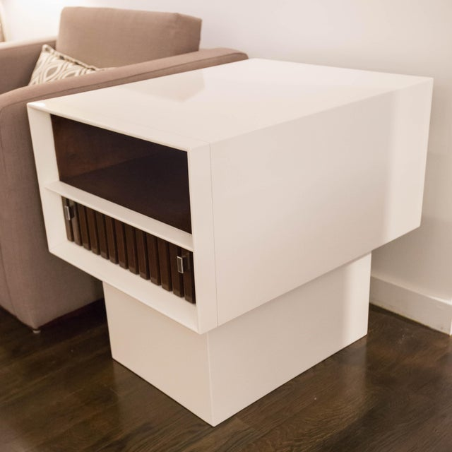 White Lacquer Side Tables - Image 2 of 5