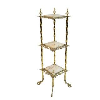 Onyx & Brass Table