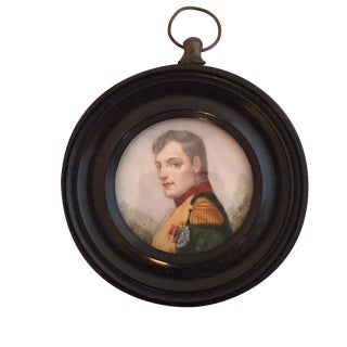 19th-C. Miniature Portrait of an Officer