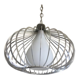 Modern Chrome Pendant Light
